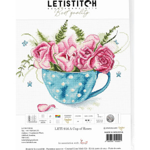 """Letistitch counted cross stitch kit """"A cup of..."""