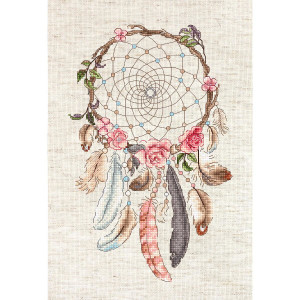 """Letistitch counted cross stitch kit """"Live your..."""