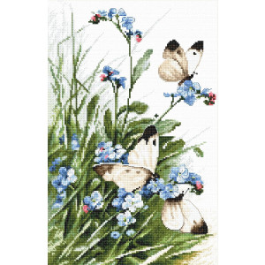 """Letistitch counted cross stitch kit """"Butterflies and..."""