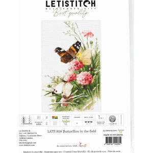 """Letistitch counted cross stitch kit """"Butterflies in..."""