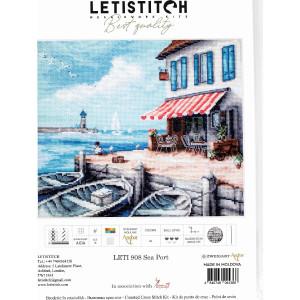 """Letistitch Kreuzstich Set """"Seehafen""""; Zählmuster, 26x22cm"""