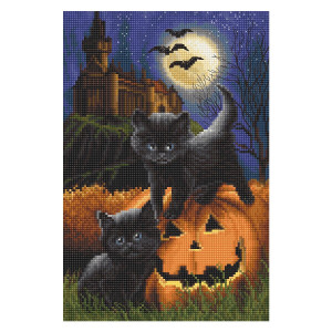 """Letistitch counted cross stitch kit """"Did we scare..."""