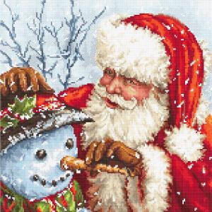 """Letistitch Kreuzstich Set """"Weihnachtsmann und..."""