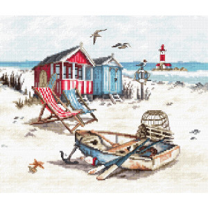 """Letistitch counted cross stitch kit """"Beach"""",..."""