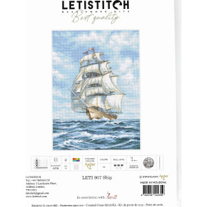 """Letistitch counted cross stitch kit """"Ship"""",..."""