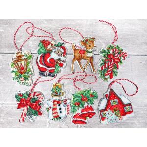 """Letistitch Kreuzstich Set """"Weihnachtsspielzeug-Kit..."""