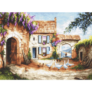 """Letistitch counted cross stitch kit """"Village"""",..."""