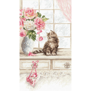 """Letistitch counted cross stitch kit """"Kitten"""",..."""