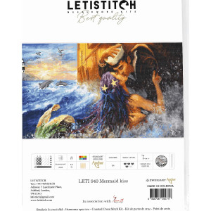 """Letistitch counted cross stitch kit """"Mermaid..."""