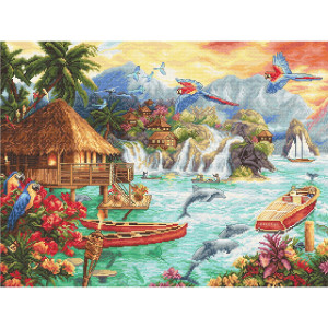 """Letistitch counted cross stitch kit """"Island..."""