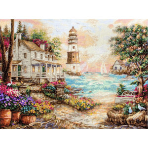 """Letistitch counted cross stitch kit """"Cottage by the..."""
