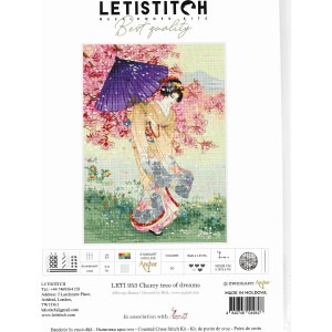 """Letistitch counted cross stitch kit """"Cherry tree of..."""