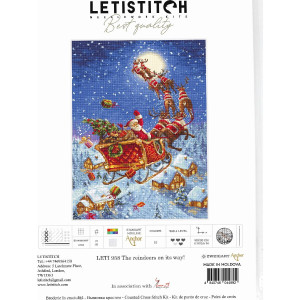 """Letistitch counted cross stitch kit """"The reindeers..."""