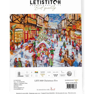 """Letistitch counted cross stitch kit """"Christmas..."""