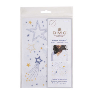 DMC Magic Paper Water-soluble embroidery base with...
