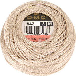 DMC Perlgarn Knäuel Stärke 5, 10 g, 116A/5-842