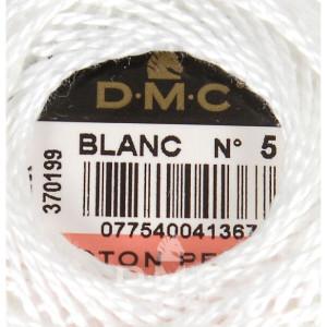 DMC Perlgarn Knäuel Stärke 5, 10 g, 116A/5-BLANC