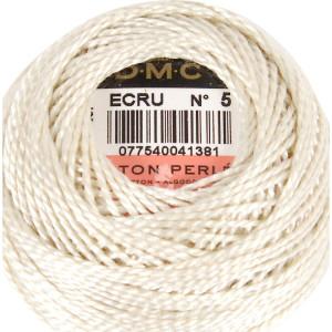 DMC Perlgarn Knäuel Stärke 5, 10 g, 116A/5-ECRU