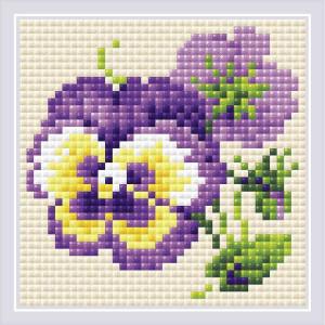 "Riolis diamond mosaic kit ""Pair of Pansies"",..."