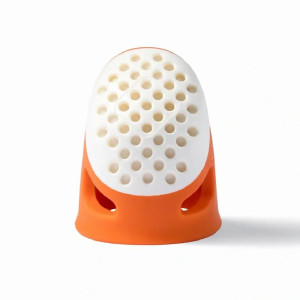 Prym Fingerhut Ergonomics S, orange / weiß