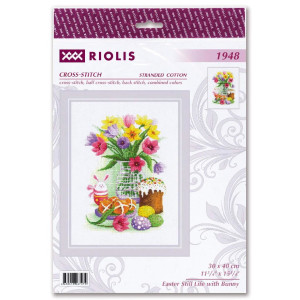 """Riolis counted cross stitch kit """"Easter Still Life..."""