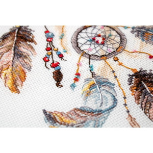 """Letistitch counted cross stitch kit """"Never Stop..."""
