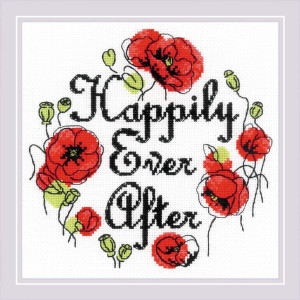 """Riolis counted cross stitch kit """"Happily Ever..."""