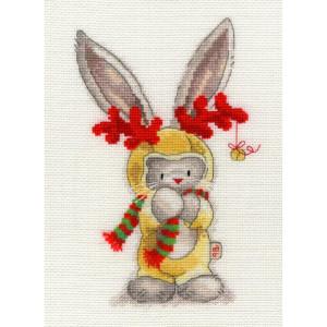 """Bothy Threads Kreuzstich-Set """"Rudolf"""", 16x22cm,..."""