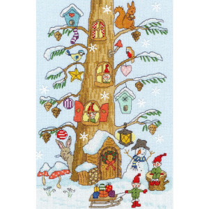 """Bothy Threads counted cross stitch Kit """"Santas..."""