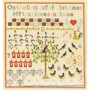 """Bothy Threads counted cross stitch Kit """"On The First..."""