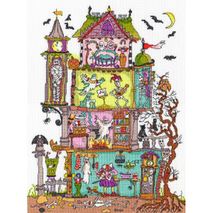 """Bothy Threads counted cross stitch Kit """"Haunted..."""