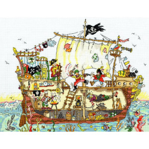 """Bothy Threads counted cross stitch Kit """"Pirate..."""
