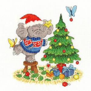 """Bothy Threads Kreuzstich-Set """"Frohe Weihnachten Elly..."""