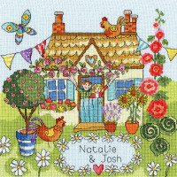 """Bothy Threads counted cross stitch Kit """"Our House"""", 26x26cm, XJR37"""