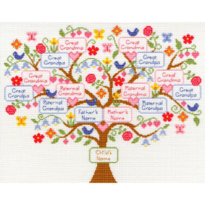 """Bothy Threads counted cross stitch Kit """"My Family..."""