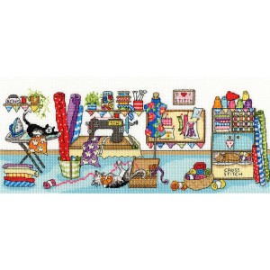 """Bothy Threads counted cross stitch Kit """"Sewing..."""