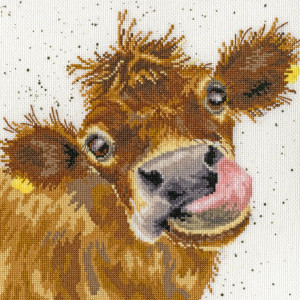 """Bothy Threads counted cross stitch Kit """"Moo"""",..."""