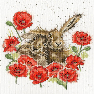 """Bothy Threads counted cross stitch Kit """"Love Is In..."""
