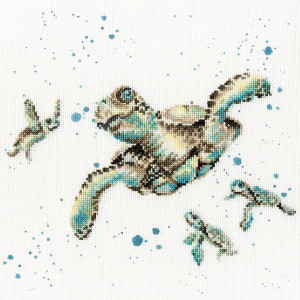 """Bothy Threads counted cross stitch Kit """"Swimming..."""