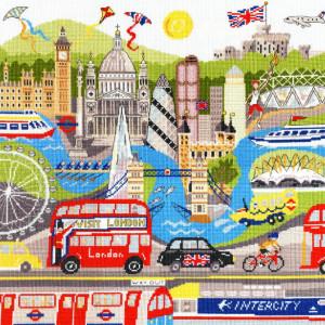 "Bothy Threads Kreuzstich-Set ""London"", 36x38cm,..."