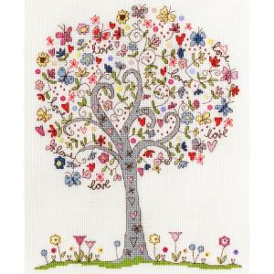"""Bothy Threads Kreuzstich-Set """"Liebe Baum"""",..."""