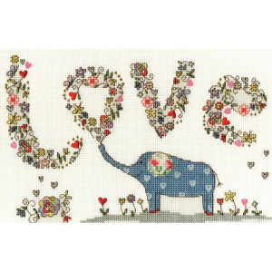 """Bothy Threads counted cross stitch Kit """"Love Elly..."""