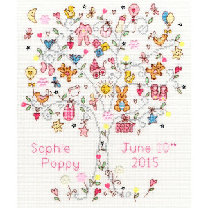 """Bothy Threads counted cross stitch Kit """"Love Baby..."""