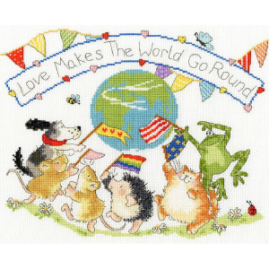 """Bothy Threads counted cross stitch Kit """"Love Makes..."""