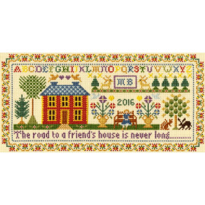 """Bothy Threads counted cross stitch Kit """"Friends..."""