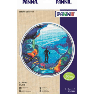 """Panna counted cross stitch kit """"Diving"""",..."""