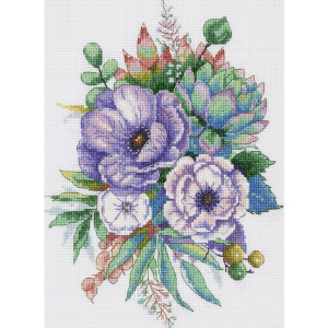 """Panna counted cross stitch kit """"Anemones and..."""