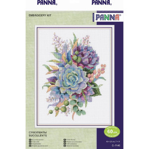 """Panna counted cross stitch kit """"Succulents"""",..."""