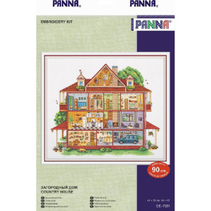 """Panna counted cross stitch kit """"Country House"""",..."""