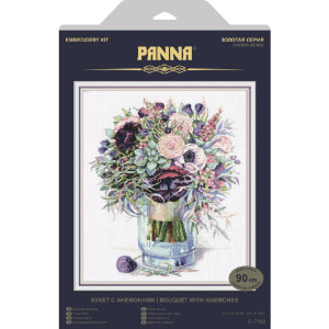 """Panna counted cross stitch kit """"Bouquet with..."""